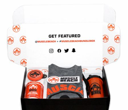Image of Muscle Beach Bundle Box Grey Medium - Pre-Workout Muscle Beach Nutrition
