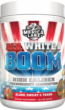 Image of Red, White, and BOOM Blood, Sweat, and Tears 20 Servings - Pre-Workout 'Merica Labz