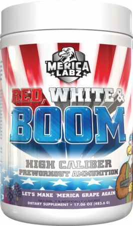 Image of Red, White, and BOOM Let's Make 'Merica Grape Again 20 Servings - Pre-Workout 'Merica Labz