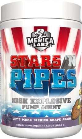 Image of Stars 'N Pipes Let's Make 'Merica Grape Again 20 Servings - Stimulant Free Pre-Workout 'Merica Labz