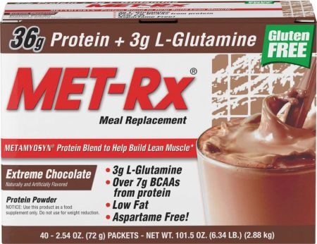 Image of Meal Replacement Extreme Chocolate 40 Packets - Meal Replacement MET-Rx