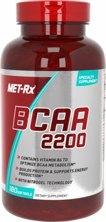 Image of BCAA 2200 180 Softgels - Amino Acids & BCAAs MET-Rx