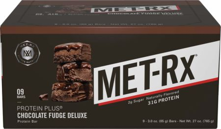 MET-Rx Protein Plus Bars Chocolate Fudge Deluxe 9 Bars - Protein Bars
