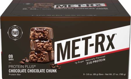 MET-Rx Protein Plus Bars Chocolate Chocolate Chunk 9 Bars - Protein Bars