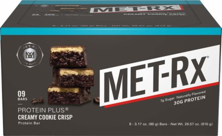 MET-Rx Protein Plus Bars Creamy Cookie Crisp 9 Bars - Protein Bars