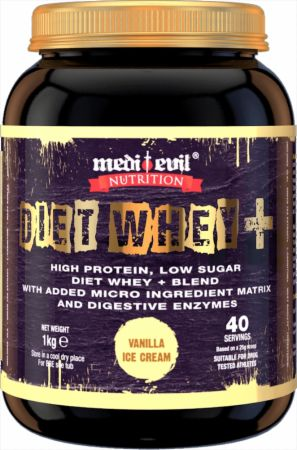 Image of Medi Evil Diet Whey+ 1 Kilogram Vanilla Ice Cream