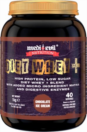 Image of Medi Evil Diet Whey+ 1 Kilogram Chocolate Ice Cream