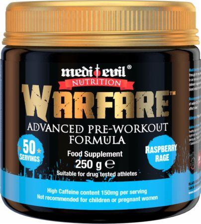 Image of Warfare Raspberry Rage 250 Grams - Pre-Workout Supplements Medi Evil