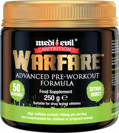 Image of Warfare Citrus Burst 250 Grams - Pre-Workout Supplements Medi Evil