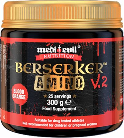 Image of Medi Evil Berserker V2 Amino 300 Grams Blood Orange