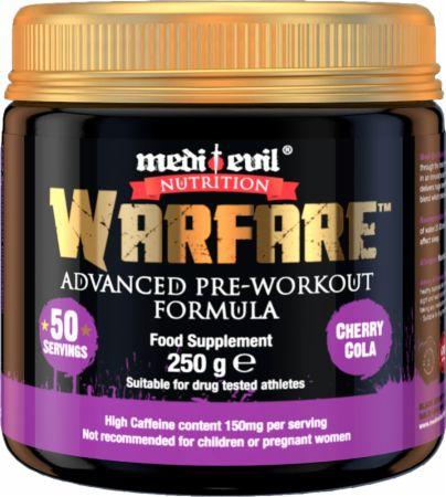 Image of Warfare Cherry Cola 250 Grams - Pre-Workout Supplements Medi Evil