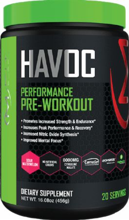 Image of Havoc Pre-Workout Sour Watermelon 20 Servings - Pre-Workout MFIT Supps