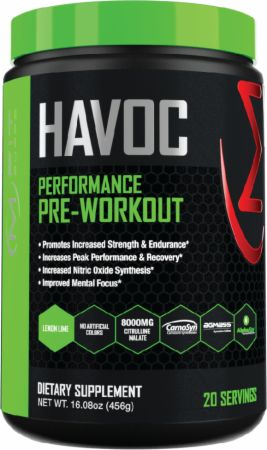 Image of Havoc Pre-Workout Lemon Lime 20 Servings - Pre-Workout MFIT Supps