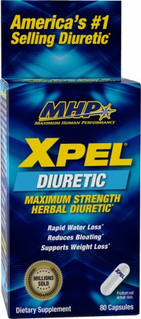 MHP Xpel Maximum Strength Diuretic Water Pills, for Water Retention Relief, Weight Loss Support, with Vitamin B-6 Potassium Dandelion Root