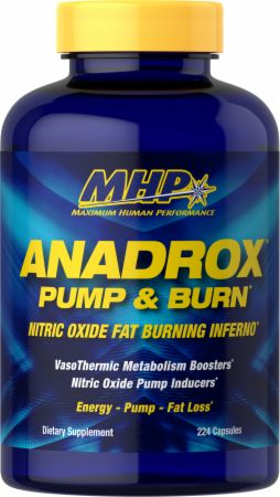 Anadrox Pump & Burn, Nitric Oxide Fat Burner