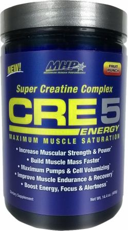 Image of MHP CRE5 Energy 60 Servings Fruit Punch