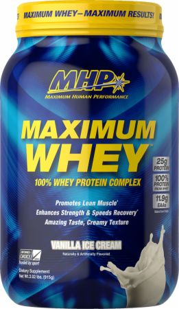 Image of Maximum Whey Protein Complex Vanilla Ice Cream 2 Lbs. - Protein Powder MHP