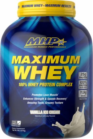Image of Maximum Whey Protein Complex Vanilla Ice Cream 5 Lbs. - Protein Powder MHP