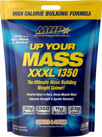 Image of Up Your Mass XXXL 1350 Cookies & Cream 12 Lbs. - Mass Gainers MHP
