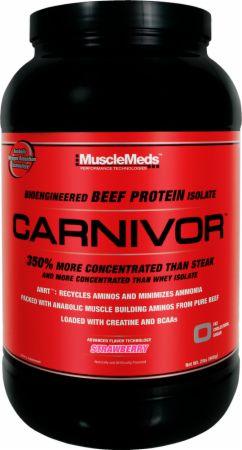 Image of MuscleMeds Carnivor 28 Servings Strawberry