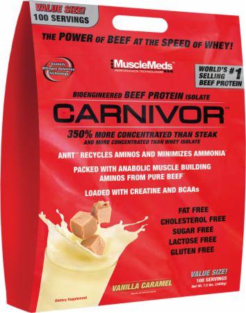 Image of MuscleMeds Carnivor 100 Servings Vanilla Caramel