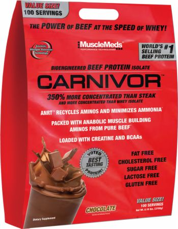 Image of MuscleMeds Carnivor 100 Servings Chocolate
