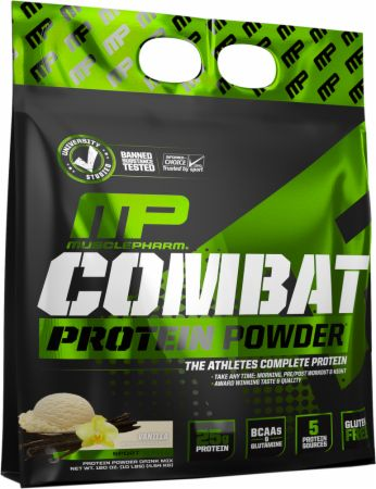 MusclePharm Combat 100% Whey, Muscle-Building Whey Protein Powder, 25 g of Ultra-Premium, Gluten-Free, Low-Fat Blend of Fast-Digesting Whey Protein