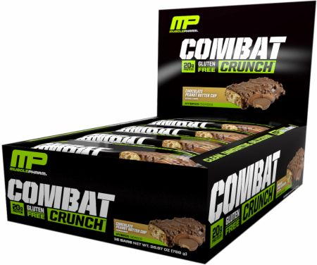 Image of Combat Crunch Protein Bar Chocolate Peanut Butter Cup 12 Bars - Protein Bars MusclePharm