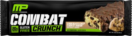 Image of Combat Crunch Protein Bar Chocolate Chip Cookie Dough 1 Bar - Protein Bars MusclePharm