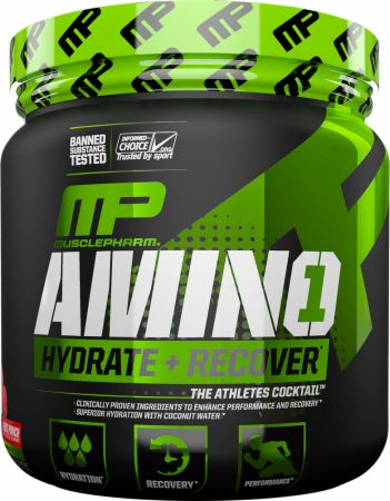 Image of AMINO1 Fruit Punch 30 Servings - Post-Workout Recovery MusclePharm