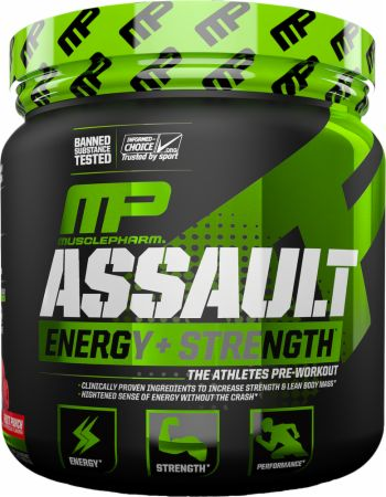 Image of Assault Strawberry Ice 30 Servings - Pre-Workout Supplements MusclePharm