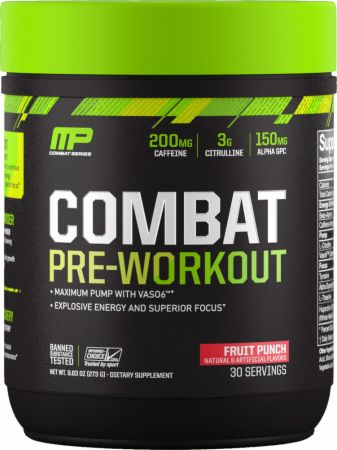 Combat Pre-Workout Fruit Punch 30 Servings - Pre-Workout Supplements MusclePharm