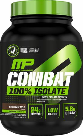 Image of Combat 100% Isolate Chocolate Milk 907 Grams - Protein Powder MusclePharm