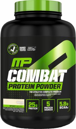 Image of Combat Whey Protein Powder Banana Cream 1814 Grams - Protein Powder MusclePharm