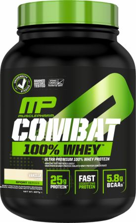 Image of MusclePharm Combat 100% Whey 907 Grams Strawberry