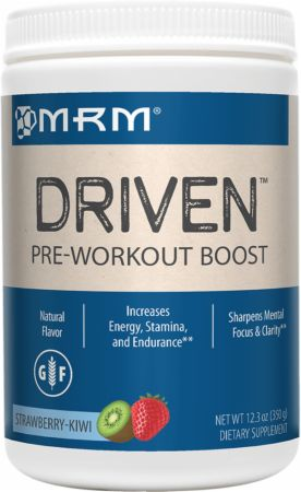MRM All Natural Driven Strawberry Kiwi 350 Grams - Pre-Workout Supplements