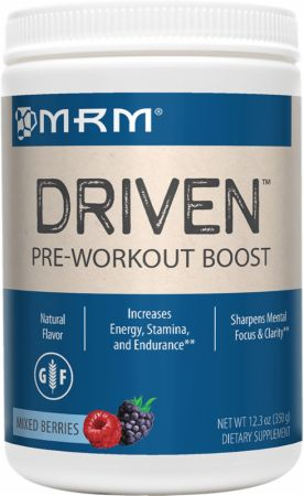 MRM All Natural Driven Mixed Berries 350 Grams - Pre-Workout Supplements