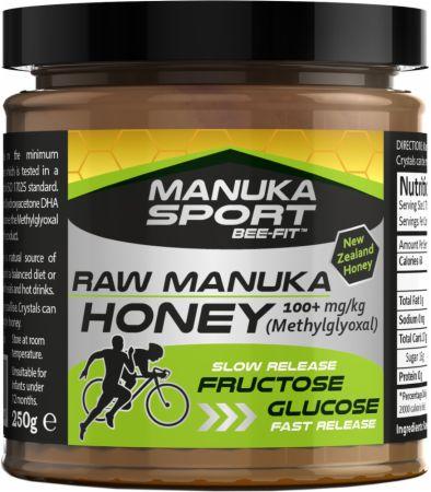 Image of Manuka Sport Bee-Fit Raw Manuka Honey 100+ mg/kg Methylglyoxal - 250 Grams Honey
