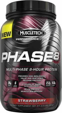MuscleTech Phase8 Strawberry 2 Lbs. - Protein Powder - MT1450154