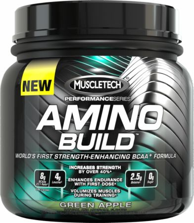 Image of MuscleTech AMINO BUILD 50 Servings Green Apple