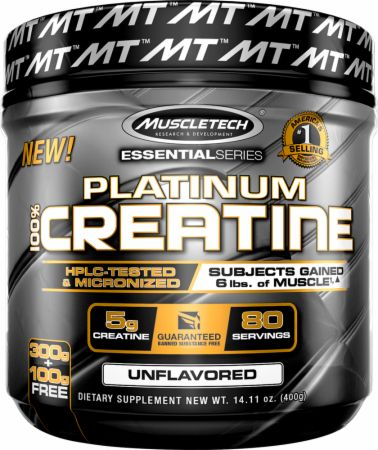 Platinum 100% Creatine Container