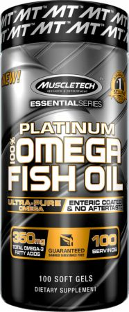 Platinum 100% Fish Oil Bottle