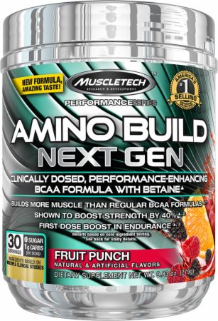 Amino Build Next Gen Fruit Punch 30 Servings - Amino Acids & BCAAs MuscleTech