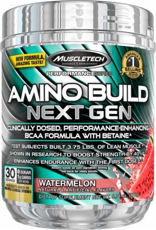 Image of Amino Build Next Gen Watermelon 30 Servings - Amino Acids & BCAAs MuscleTech
