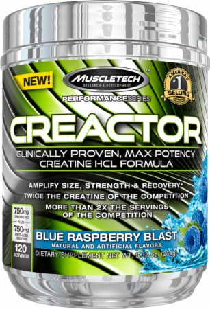 Creactor Blue Raspberry Blast 120 Servings - Creatine MuscleTech