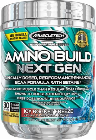 Image of Amino Build Next Gen Icy Rocket Freeze 30 Servings - Amino Acids & BCAAs MuscleTech