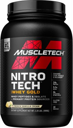 MuscleTech NITRO-TECH 100% Whey Gold French Vanilla Creme 2.2 Lbs. - Protein Powder