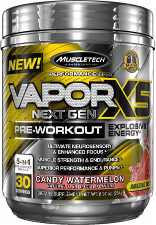 Vapor X5 Next Gen Pre-Workout Candy Watermelon 30 Servings - Pre-Workout Supplements MuscleTech