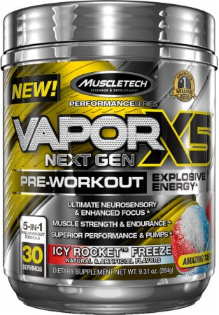 Vapor X5 Next Gen Pre-Workout Icy Rocket Freeze 30 Servings - Pre-Workout Supplements MuscleTech
