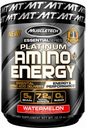 Platinum Amino + Energy Watermelon 30 Servings - Amino Acids & BCAAs MuscleTech